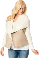 A Pea in the Pod Design History Sherpa Combo Fleece Maternity Jacket