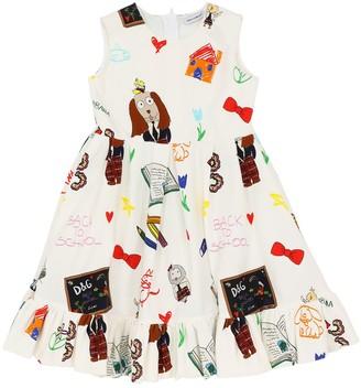 Dolce & Gabbana Printed Cotton Interlock Dress