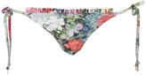 Wildfox Couture Women's Fairy Wall Ruffle String Bikini Bottoms Multi