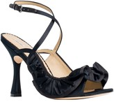 Max Studio Eclipse: Open-Toe Satin Heels