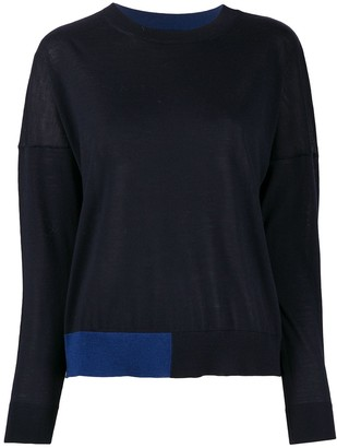 Roberto Collina Colour Block Wool Jumper