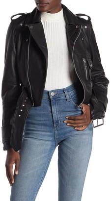 Walter Baker Annie Leather Moto Jacket