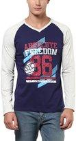 American Crew V-Neck Printed Raglan Sleeves T-Shirt - L (ACP19-L)
