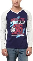 American Crew V-Neck Printed Raglan Sleeves T-Shirt - XL (ACP19-XL)