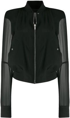Rick Owens Sheer Sleeve Bomber Jacket
