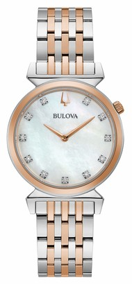 Bulova Womens Analogue Quartz Watch with Stainless Steel Strap 98P192