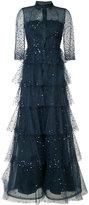 Carolina Herrera embroidered tulle shirt gown - women - Silk/Nylon - 8