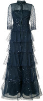 Carolina Herrera embroidered tulle shirt gown