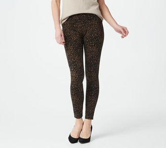 Susan Graver Petite Weekend Printed Premium Stretch Leggings