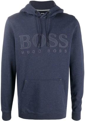 HUGO BOSS Logo-Embroidered Hoodie