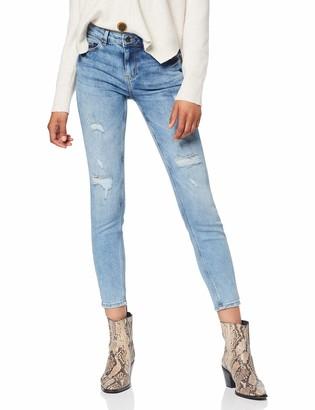 Pieces Women's PCFIVE DNM MW CR DES JNS LB103-VI Skinny Jeans