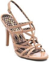 JESSICA SIMPSON Primrose Metallic High-Heel Sandals