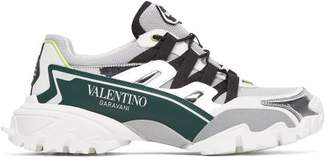 Valentino Climbers Mesh And Leather Trainers - Mens - White Multi