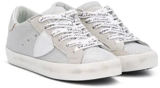 Philippe Model Kids TEEN glitter low-top sneakers
