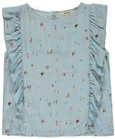 Bellerose Lente Ruffled Print Top