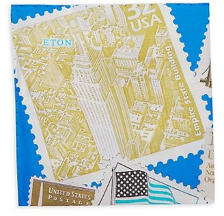 Eton Empire State Building Silk Pocket Square