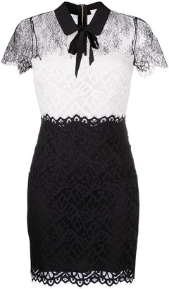 Sandro Rozen semi-sheer lace dress