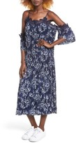 Moon River Women's Floral Print Cold-Shoulder Dress