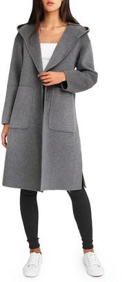 Belle & Bloom Walk This Way Wool Blend Oversized Coat