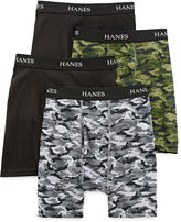 Hanes Ultimate 4-pk. ComfortFlex Printed Boxer Briefs - Boys