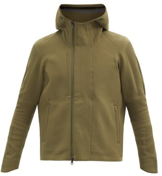 Descente Crescent Hooded Technical-knit Jacket - Khaki