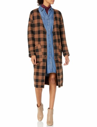 ASTR the Label Women's Checkmate Oversized Long Sweater Cardigan