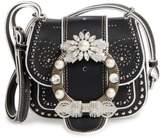 Miu Miu Dahlia Leather Shoulder Bag - Ivory