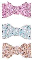 Gymboree Glitter Bow Clips 3-Pack