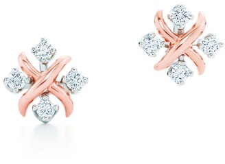 Tiffany & Co. Schlumberger Lynn earrings in 18k rose gold with diamonds