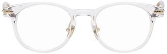 Linda Farrow Luxe Transparent and Tortoiseshell Linear Bay C1 Glasses