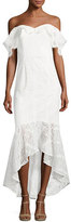 Shoshanna Vanowen Off-the-Shoulder Lace Dress