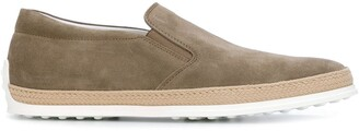 Tod's Woven Trim Loafers