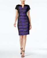 Connected Striped Colorbocked Sheath Dress