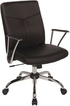 OSP Home Furnishings Faux Leather Office Chair