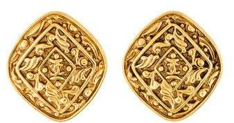 Chanel Textured CC Clip-On Earrings