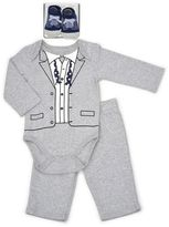 Vitamins Baby Baby Boy Tuxedo Bodysuit, Pants & Socks Set