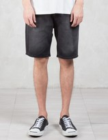 Cheap Monday Line Element Washed Denim Shorts