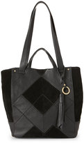 Sanctuary Black Modern Patchwork Tote