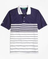 Brooks Brothers St. Andrews Links Fade Stripe Golf Polo Shirt