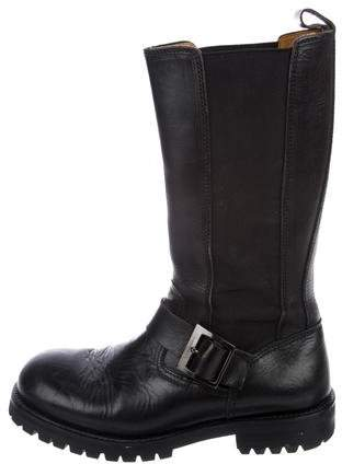 Dolce & Gabbana Leather Tall Boots