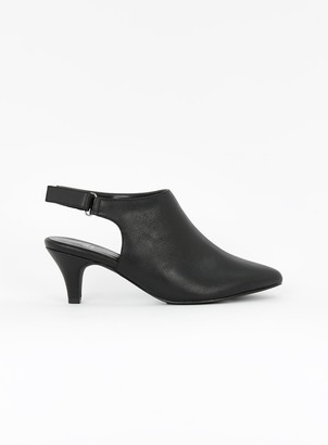 Evans EXTRA WIDE FIT Black High Front Point Shoes
