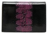Saint Laurent Toy Kate Snakeskin Monogramme Strap Wallet Bag in Black,Animal Print.