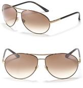 Sleek Aviator Double Bridge Sunglasses
