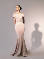Nicole Bakti 6784 Off Shoulder Fitted Mermaid Gown
