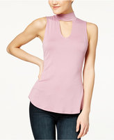 Ultra Flirt Juniors' High-Low Keyhole Top