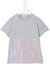 MSGM logo print T-shirt - kids - Cotton - 6 yrs