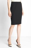 Lanvin Grosgrain Inset Crepe Skirt