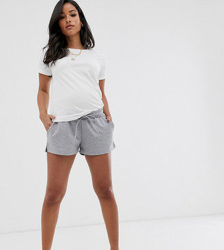 Asos DESIGN Maternity sweat short-Grey
