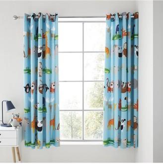 Catherine Lansfield Animal Adventures Eyelet Curtains