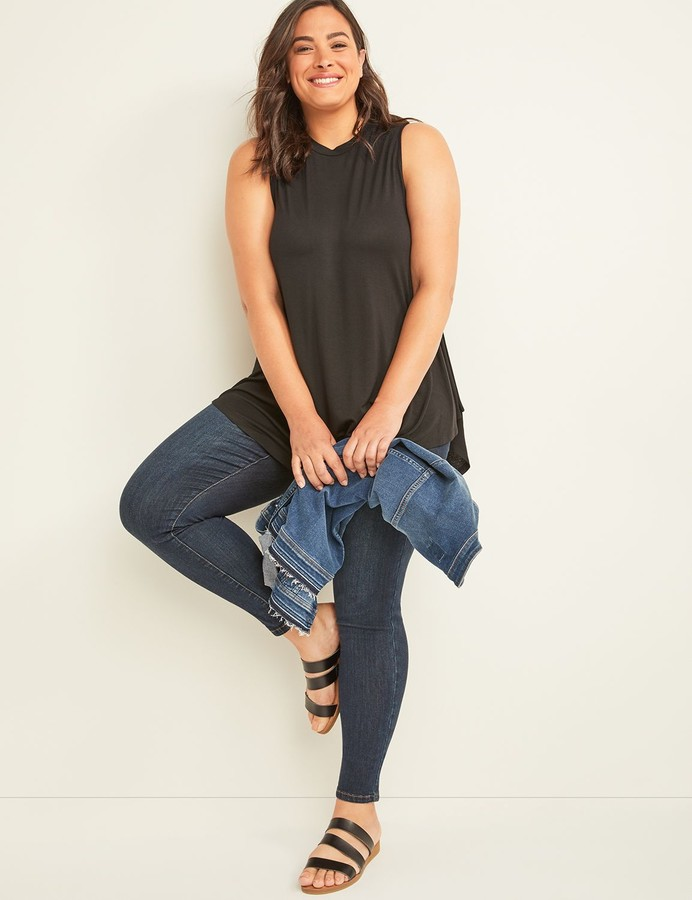Thumbnail for your product : Lane Bryant Crepe Max Swing Tank